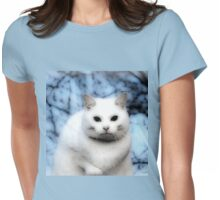 The White Cat Womens Fitted T-Shirt