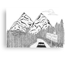 The Road to Twin Peaks Canvas Print