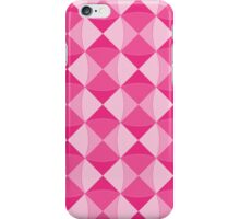 Hot pink waves and squares iPhone Case/Skin