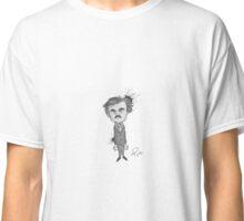 Edgar Allan Poe - Black & White - Ink Splattered Classic T-Shirt