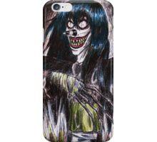 Laughing Jack creepypasta design iPhone Case/Skin