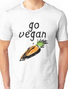 """""""Go Vegan"""" Carrot  Unisex T-Shirt"""