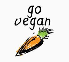 """Go Vegan"" Carrot  Womens Fitted T-Shirt"