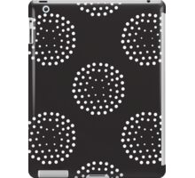 Pattern with abstract circles gradation, black and white iPad Case/Skin