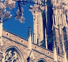 Duke Chapel With Cherry Blossoms Sticker