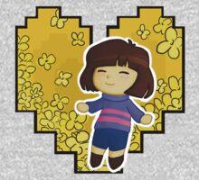 Frisk in Golden Flowers One Piece - Long Sleeve