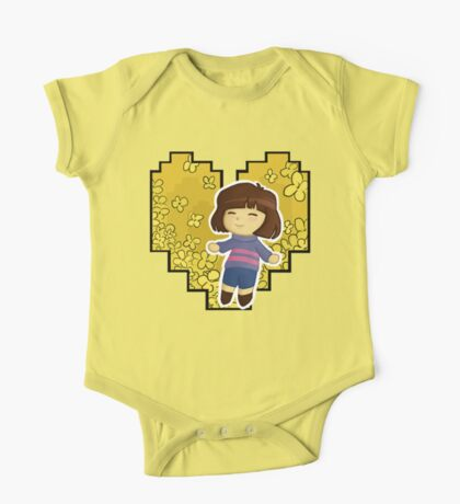 Frisk in Golden Flowers One Piece - Short Sleeve