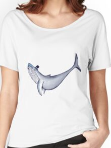 Classy Mr. Whale (in a Top Hat) Women's Relaxed Fit T-Shirt