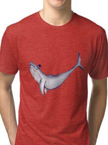 Classy Mr. Whale (in a Top Hat) Tri-blend T-Shirt