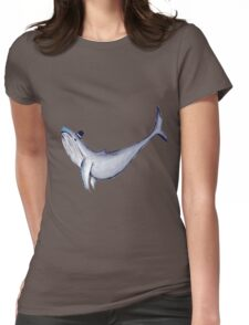 Classy Mr. Whale (in a Top Hat) Womens Fitted T-Shirt