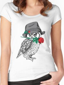 owl #6 Women's Fitted Scoop T-Shirt