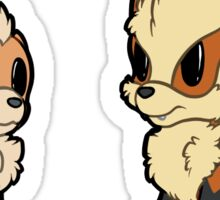 PokeSmols - Growlithe Line Sticker