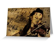 Female Artist with Violin Greeting Card