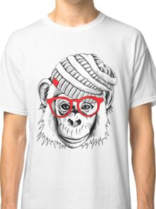 monkey portrait Classic T-Shirt