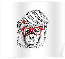 monkey portrait Poster