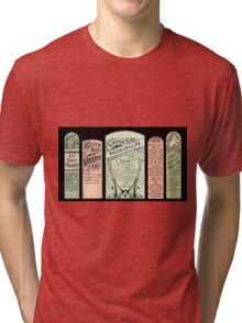 Vintage Pharmacy Labels Tri-blend T-Shirt
