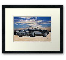 01 1958 Chevrolet Corvette Framed Print