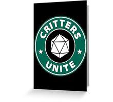 Critters Unite! - Critical Role Fan Design Greeting Card