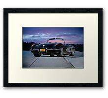 06 1958 Chevrolet Corvette Framed Print