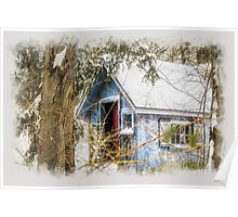 Frosted gingerbread shed Poster