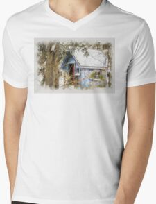 Frosted gingerbread shed Mens V-Neck T-Shirt