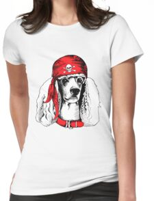 hipster dog Womens Fitted T-Shirt
