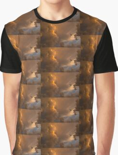 Storm Clouds Sunset - Dramatic Oranges Graphic T-Shirt
