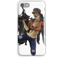 Zombie Killer Pin Up iPhone Case/Skin