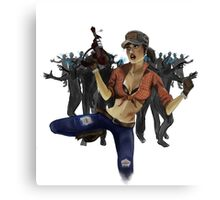 Zombie Killer Pin Up Canvas Print