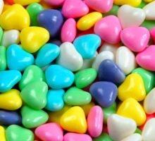 Colorful candy hearts Sticker