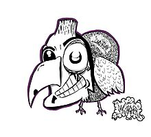 Some Creepy Gangsta Bird Photographic Print