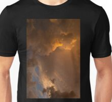 Storm Clouds Sunset - Dramatic Oranges - a Vertical View Unisex T-Shirt