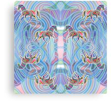 Two Horses Trotting in a Psychedelic Infinity Canvas Print