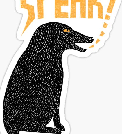 Big Dog in Charge Sticker