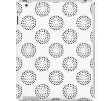 Geometric seamless pattern with abstract circles gradation  iPad Case/Skin