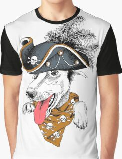 Crazy hipster dog  Graphic T-Shirt