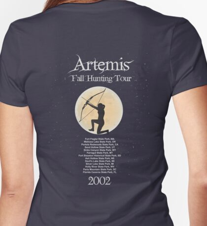 Artemis Fall Hunting Tour Womens Fitted T-Shirt