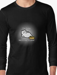 Neko Atsume Tubbs Apology  Long Sleeve T-Shirt
