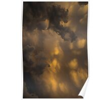 Storm Clouds Sunset - Ominous Grays and Yellows - a Vertical View Poster