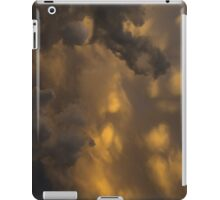 Storm Clouds Sunset - Ominous Grays and Yellows - a Vertical View iPad Case/Skin