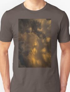 Storm Clouds Sunset - Ominous Grays and Yellows - a Vertical View Unisex T-Shirt