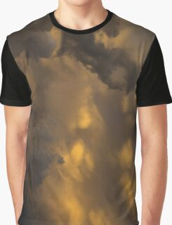 Storm Clouds Sunset - Ominous Grays and Yellows - a Vertical View Graphic T-Shirt