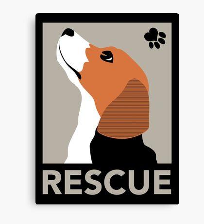 Rescue (Beagle) Canvas Print