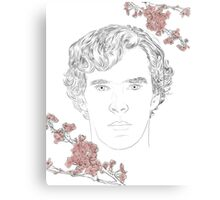 Benedict Cumberbatch ft. blossoms Canvas Print