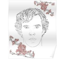Benedict Cumberbatch ft. blossoms Poster