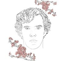 Benedict Cumberbatch ft. blossoms Photographic Print