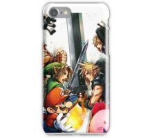 super smash bros link cloud mario kirby DK iPhone Case/Skin