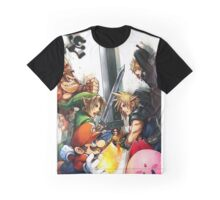 super smash bros link cloud mario kirby DK Graphic T-Shirt