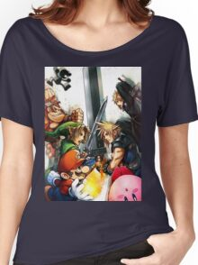super smash bros link cloud mario kirby DK Women's Relaxed Fit T-Shirt