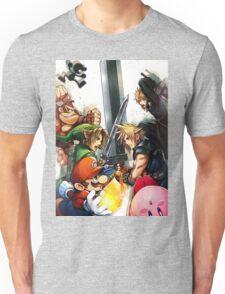 super smash bros link cloud mario kirby DK Unisex T-Shirt